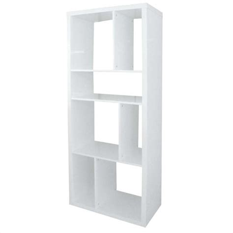 white shelving unit eurostyle shelving unit in white lacquer 09822wht