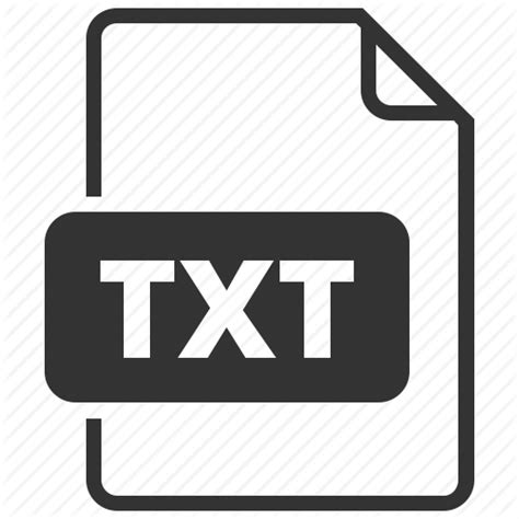 Document, extension, file, file format, filename, text ... .txt