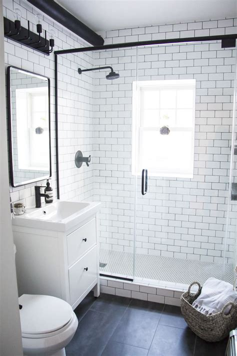 White And Black Bathrooms by A Modern Meets Traditional Black And White Bathroom