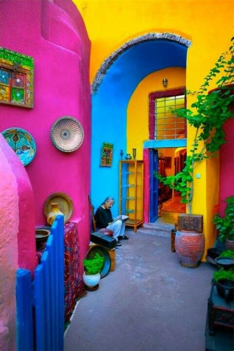 colorfu houses painting mexican home decor on mexican style homes