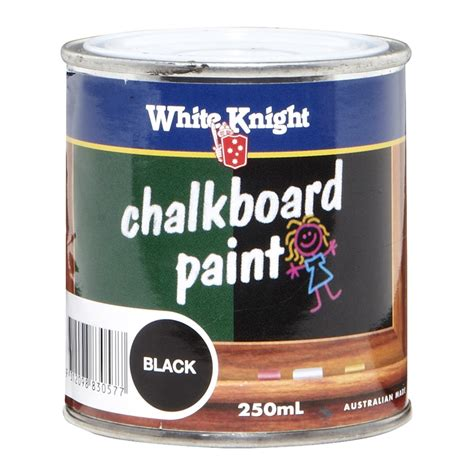 White 250ml Chalkboard Paint Black Bunnings