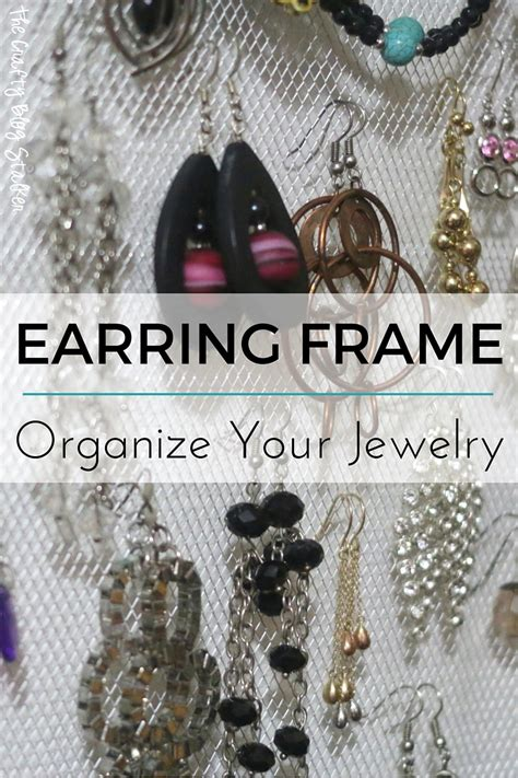 how to make a jewelry holder how to make an earring holder frame the crafty stalker