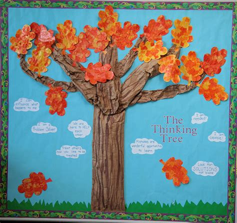 display tree autumn displays the thinking tree classroom displays
