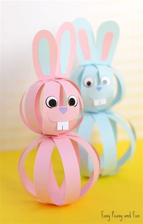 craft for kid easy paper bunny craft easter idea for easy peasy
