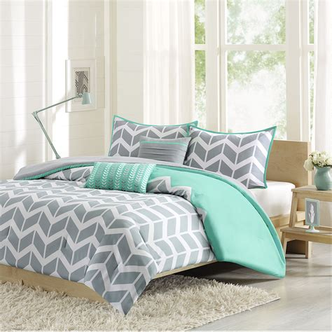 teal and grey comforter set cool gray teal chevron stripe bedding for king size bed