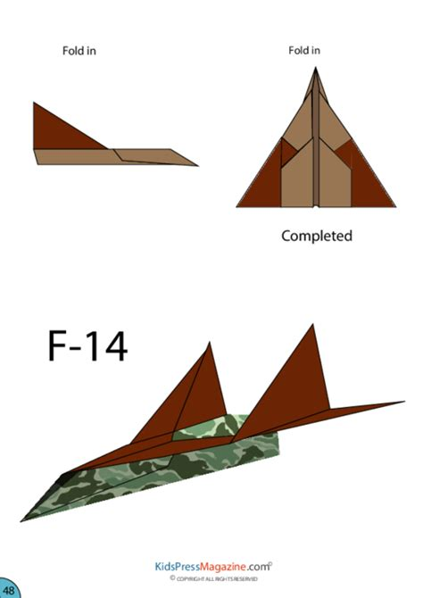 origami airplane jet paper airplane f 14 kidspressmagazine