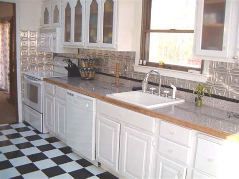 metal kitchen backsplash photos of kitchens with metal backsplashes aluminum copper