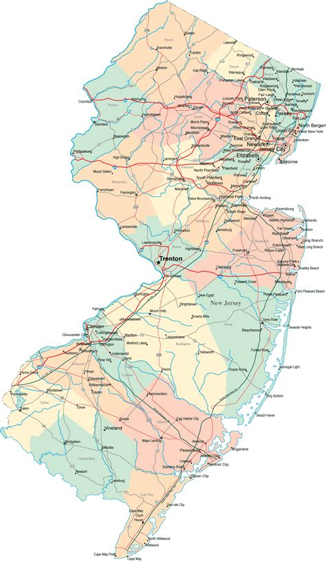 in new jersey image gallery new jersey state map