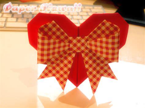 origami ribbon origami hearts paper kawaii