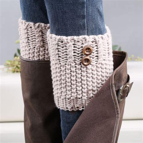 knit leg warmers for boots 7 colors button crochet leg warmers winter