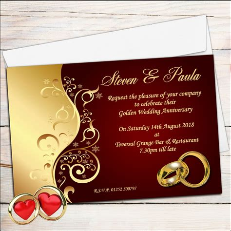 make wedding anniversary card wedding invitation marriage anniversary invitation card