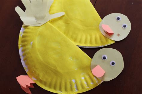 duck paper craft pin paper plate duck craft or mask on