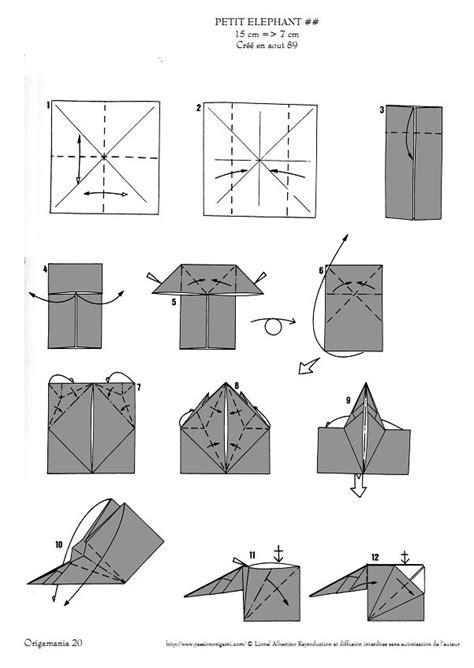 origami elephant diagram elephants lionel albertino
