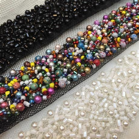 beaded trimmings uk tulle trim with pearls