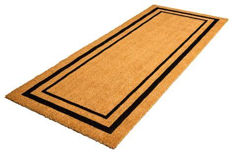 modern doormats classic border coir doormat modern doormats by