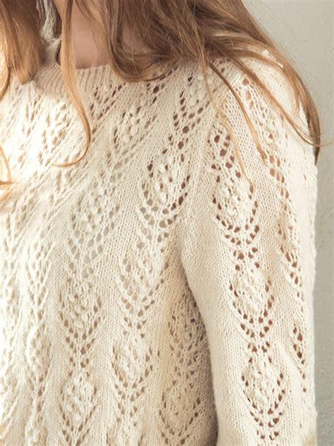 knitted lace sweater patterns rosabella free lace flower sweater knit pattern knitting bee