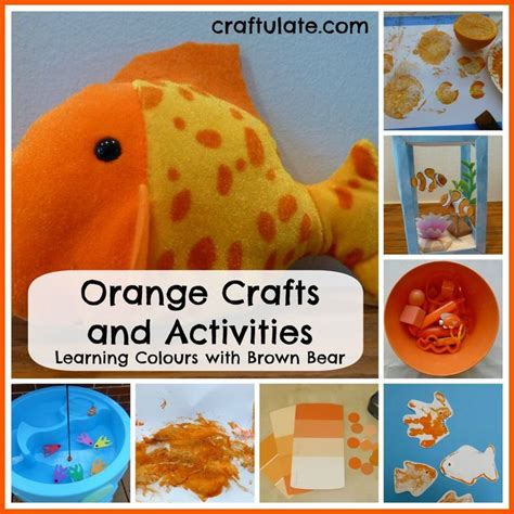 orange craft for 17 best images about orange colour theme on