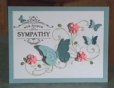 card gallery handmade sympathy card stin up thanks for caring