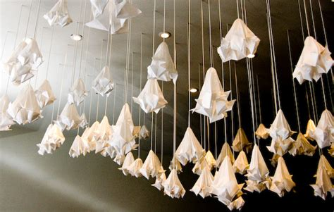 hanging origami decorations mobile dekoracje sufitowe on l shades