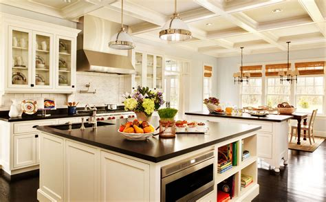 kitchens with islands ideas white kitchen island designs ideas with black countertop
