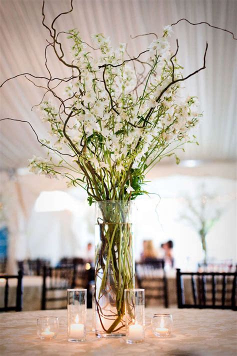 branches with lights centerpiece branch wedding centerpieces on