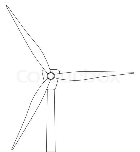 windmill line drawing