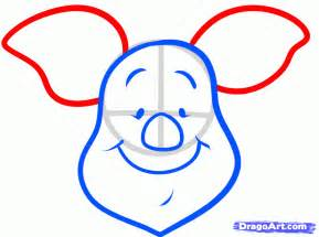 easy to draw draw piglet easy step by step drawing sheets added by