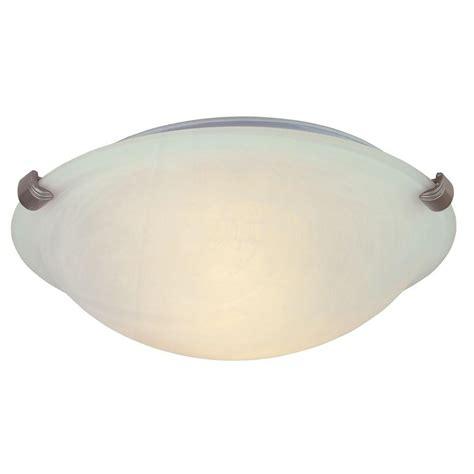 home depot ceiling lights hton bay 1 light white globe flushmount with pull
