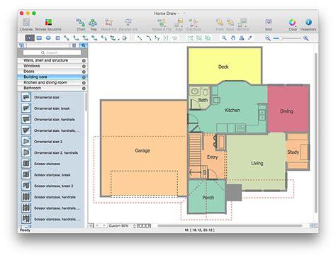 floor plan visio create a visio floor plan conceptdraw helpdesk