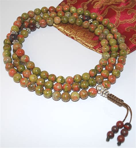 what are mala unakite buddhist prayer