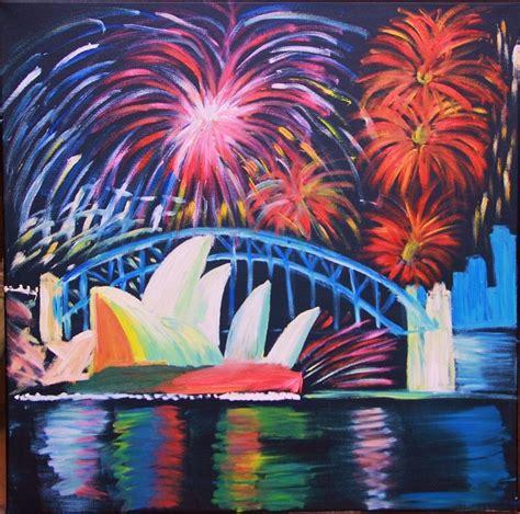 spray paint fireworks sydney harbour painting fireworks