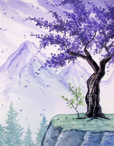 paint nite tree 25 best ideas about nature paintings on