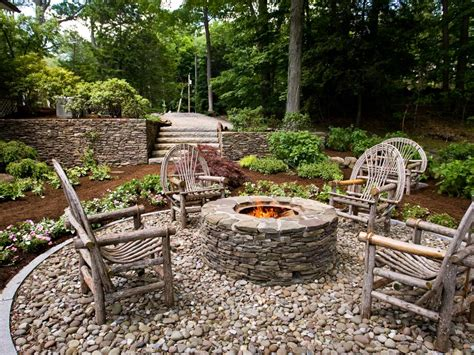 landscape pits rustic style pits landscaping ideas and hardscape