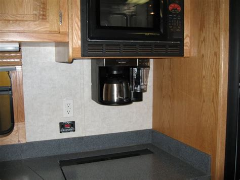 Under the counter coffee maker, tank sensor system   Truck Conversion, Toterhome, Garagecoach