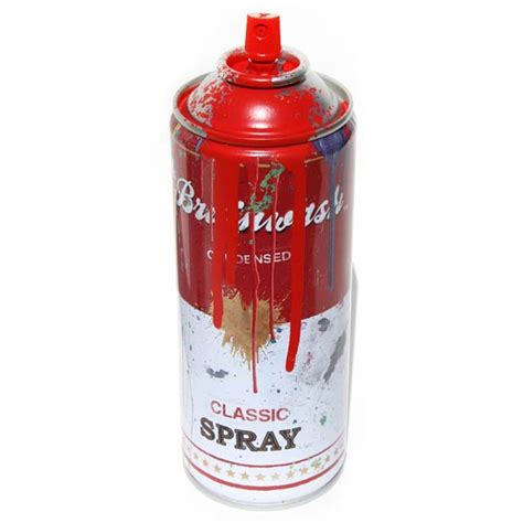 spray paint with inside the rock poster frame mr brainwash spray