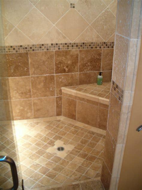 Subway Tile Designs For Bathrooms diagonal black slate floor mixed shower brown ceramic tile