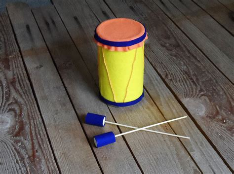 drum craft for oatmeal container drum 183 kix cereal