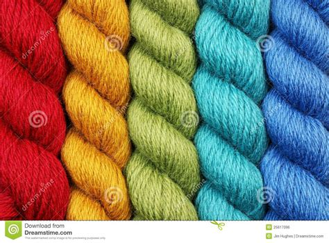 yarn twisting while knitting wool yarn in twisted skeins stock photo image 25617096