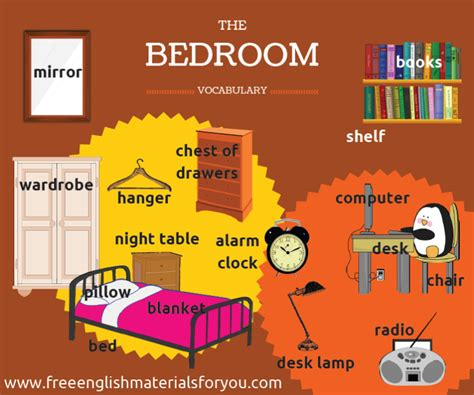 bedroom furniture vocabulary bedroom s vocabulary free materials for you