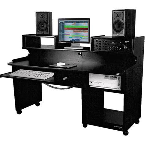 omnirax studio desk omnirax prostation jr workstation black melamine psjr b b h
