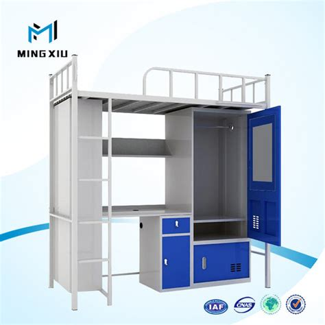 bunk bed prices luoyang low price bunk bed with desk metal student