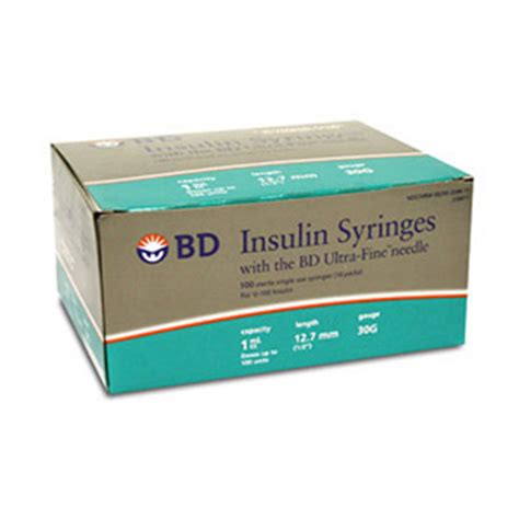 bd counting bd insulin syringe ultra 30 1cc 1 2 quot 100