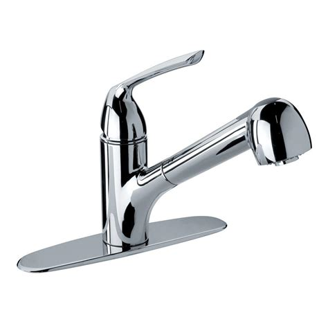 glacier bay pull kitchen faucet glacier bay single handle pull out sprayer kitchen faucet in chrome 64cr576lfhd the