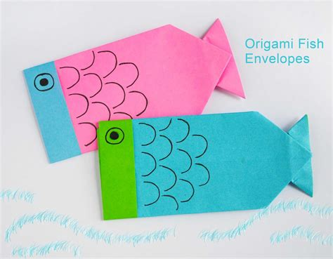 how to make a fish origami zakka origami fish envelopes