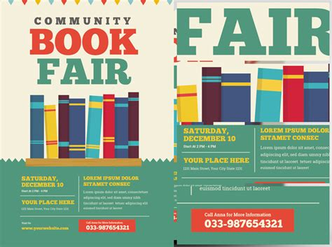 book fair pictures community book fair flyer template flyerheroes