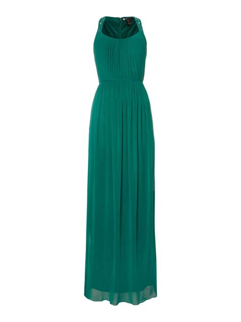 beaded green dress js collections beaded halter neck dress in green emerald