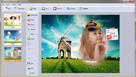 free picture book maker output options of flip book maker software