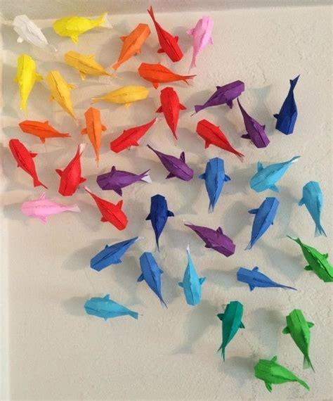 koi fish origami wall of rainbow koi 183 how to fold an origami fish
