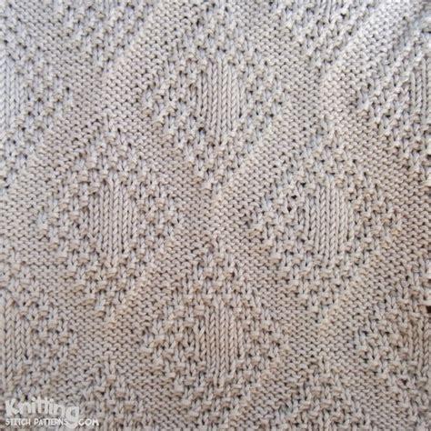 knitting stitch patterns moss bordered diamonds knitting stitch patterns