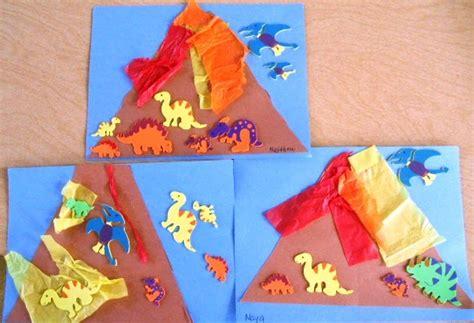volcano crafts for preschool playbook erupting volcanoes